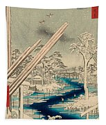 Fukagawa Lumberyards Tapestry