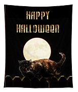 Full Moon Cat Tapestry