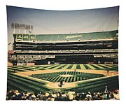 Game Day In Oakland Tapestry