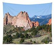 Garden Of The Gods Park In Colorado Springs In The Morning Tapestry