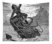 Giant Squid, 1879 Tapestry