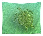 Gliding Green  Tapestry