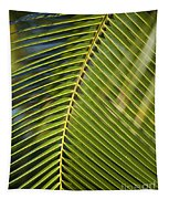 Green Palm Leaf Tapestry