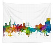 Halmstad Sweden Skyline Tapestry