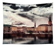Hamburg At Dusk Tapestry