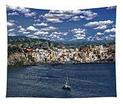 Harbor In Corricella Tapestry