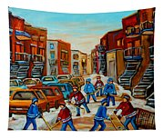 Heat Of The Game Tapestry