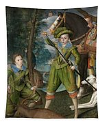Henry Frederick Prince Of Wales With Sir John Harington In The Hunting Field Tapestry