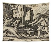 Hercules Capturing Cerberus Tapestry