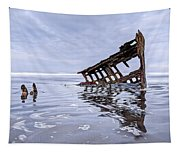 The Peter Iredale Wreck, Cannon Beach, Oregon Tapestry