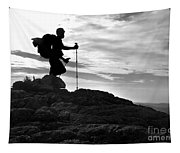 Hiker Silhouette Tapestry