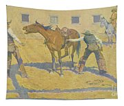 His First Lesson Tapestry