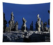 Human Figures Made From Stones At Night Tapestry