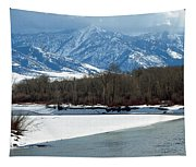 Idaho Winter River Tapestry