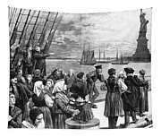 Immigrants On Ship, 1887 Tapestry