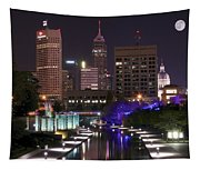 Indianapolis Canal View Tapestry
