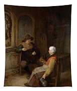 Interior Of A Cottage Tapestry