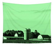 Iowa Farm Panorama Tapestry