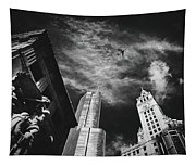 Jet Over Michigan Avenue Tapestry