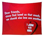 1 John Bible Verse Tapestry