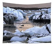 Jokulsarlon Glacier Lagoon Iceland 2050 Tapestry