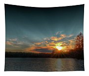 June Sunset On Nicks Lake Tapestry