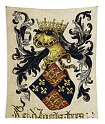King Of England Coat Of Arms - Livro Do Armeiro-mor Tapestry