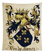 King Of France Coat Of Arms - Livro Do Armeiro-mor  Tapestry