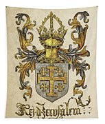Kingdom Of Jerusalem Coat Of Arms - Livro Do Armeiro-mor Tapestry