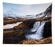 Kirkjufellsfoss Waterfalls Iceland Tapestry