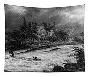 Krieghoff: Canoe On Rapids Tapestry