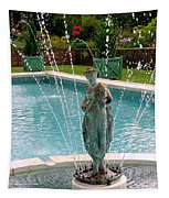 Lady In Fountain Tapestry