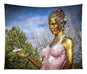 Lady In Pink Tapestry