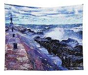 Lake Michigan Waves Tapestry