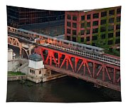 Lake Street Crossing Chicago River Tapestry