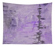 Lavender Gray Abstract Tapestry