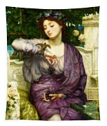 Lesbia And Her Sparrow Tapestry