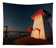 Lighthouse And Marina At Hecla In Manitoba Tapestry