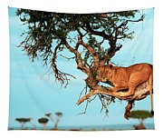 Lioness In Africa Tapestry