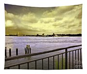 Looking West From The East River Tapestry