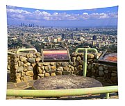 Los Angeles Skyline From Mulholland Tapestry
