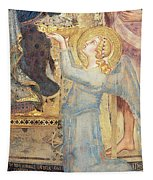 Maesta  Angel Offering Flowers To The Virgin Tapestry