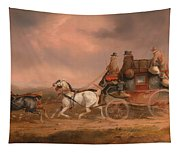 Mail Coaches On The Road Tapestry