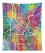 Minneapolis Minnesota City Map Tapestry