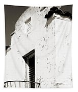 Mission Stucco Building Tapestry