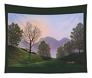 Misty Spring Meadow Tapestry