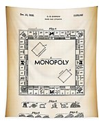 Monopoly Board Game Patent Art  1935 Tapestry