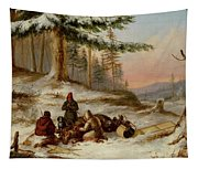 Moose Hunters Tapestry