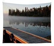 Morning Mist Over Lynx Lake In Northern Saskatchewan Tapestry