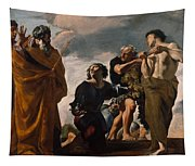 Moses And The Messengers From Canaan Tapestry